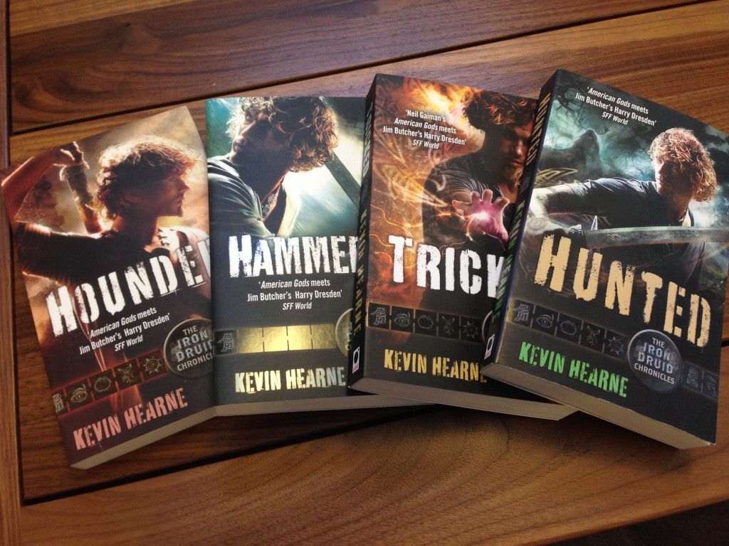 Purrr. You can win a full signed set of these UK editions—and this is not a full set. I sent Worldbuilders my last copies of HEXED and TRAPPED.