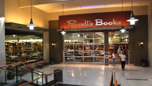 Entrance to the Powell's Books store at Cedar Hills Crossing (Beaverton, OR) from inside the mall. Photo by Steve Morgan.